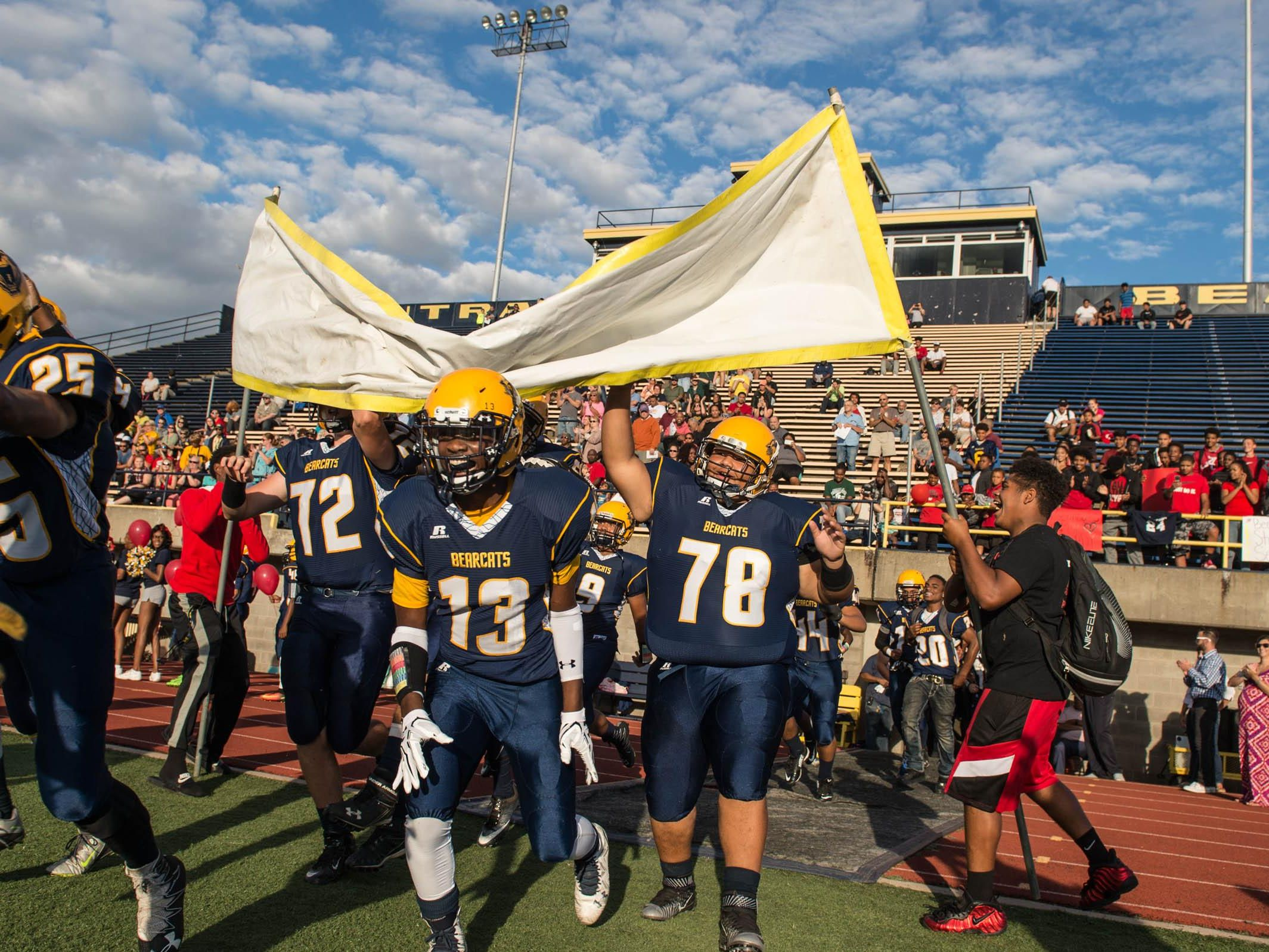 Battle Creek Central takes the field against Portage Central Thursday evening.