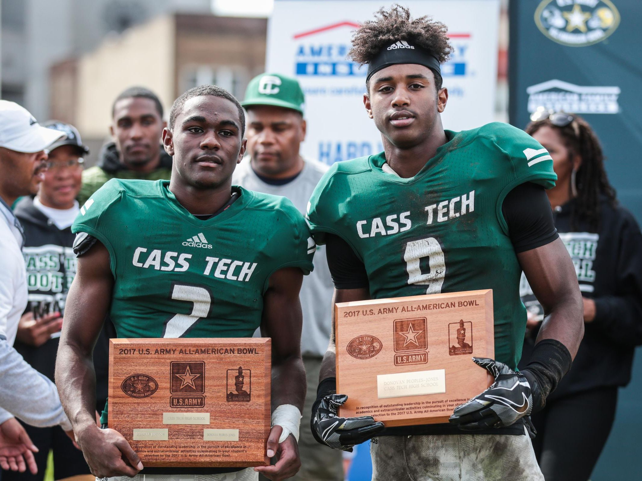 Detroit Cass Tech has four of the top-15 seniors in the state, including No. 8 Donovan Johnson, left, and No. 1 Donovan Peoples-Jones.