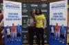 Najee Harris presents his American Family Insurance Dream Champion award to Tianna Hicks (Photo: Army All-American Bowl)