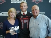Myles Brennan presented his parents, Megan and Owen, with the Dream Champion Award. (Photo: Intersport)