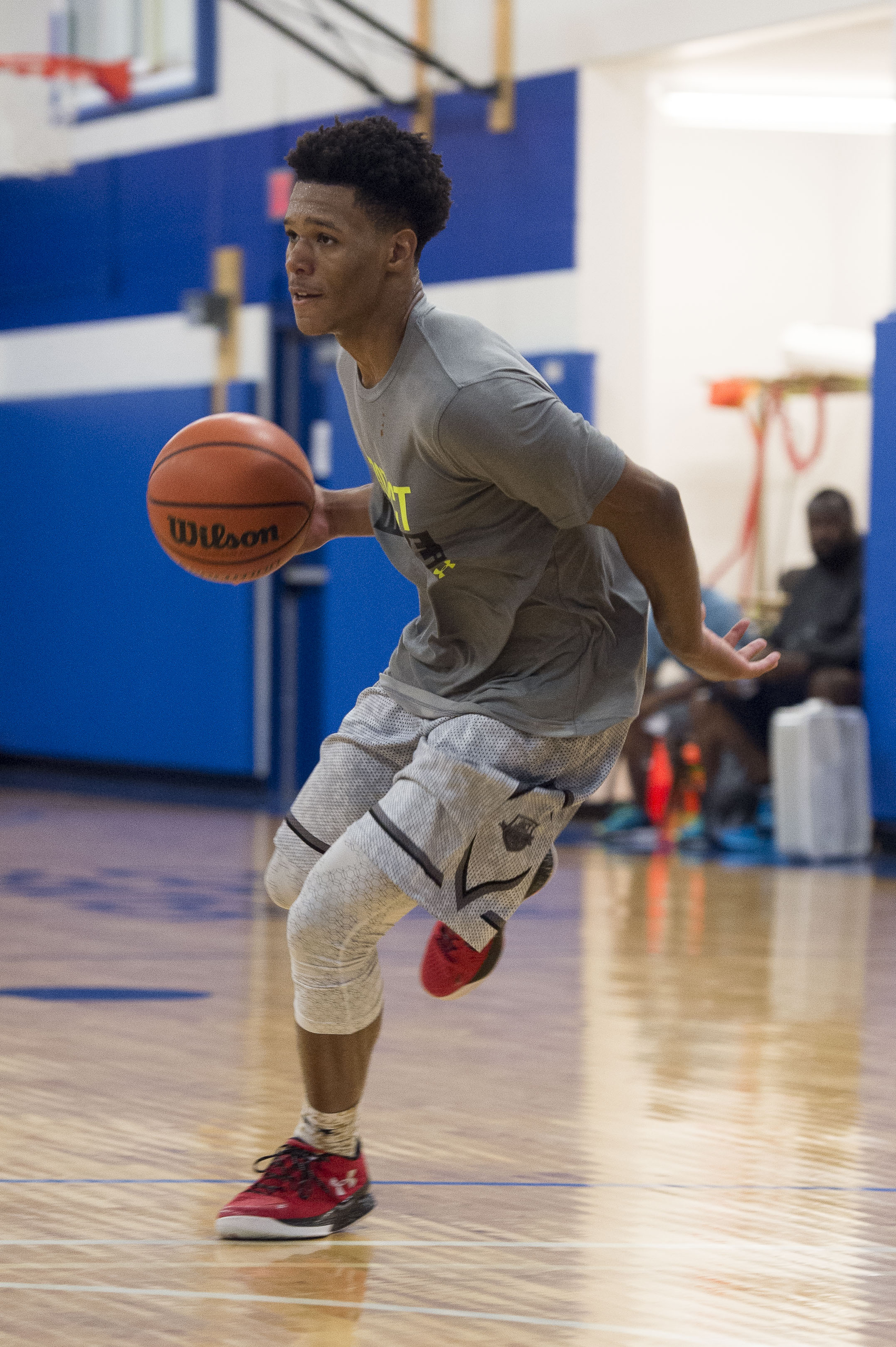 Sep 23, 2015; Dallas, TX, USA; Advance Preparatory International point guard Trevon Duval during practice at the Mark Cuban Heroes Basketball Center. -- Photo by Jerome Miron USA TODAY Sports Images, Gannett ORG XMIT: US 133760 API 9/23/2015 [Via MerlinFTP Drop]
