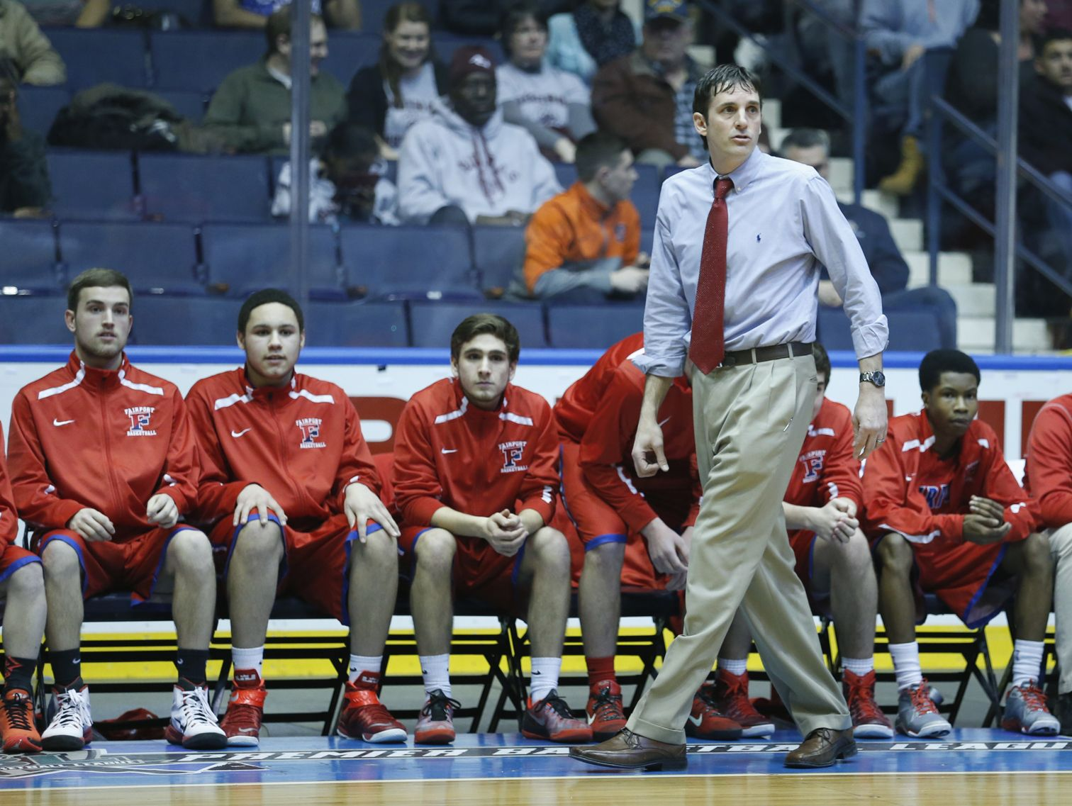 Fairport coach Scott Fitch during the 2015 Section V Class AA final.
