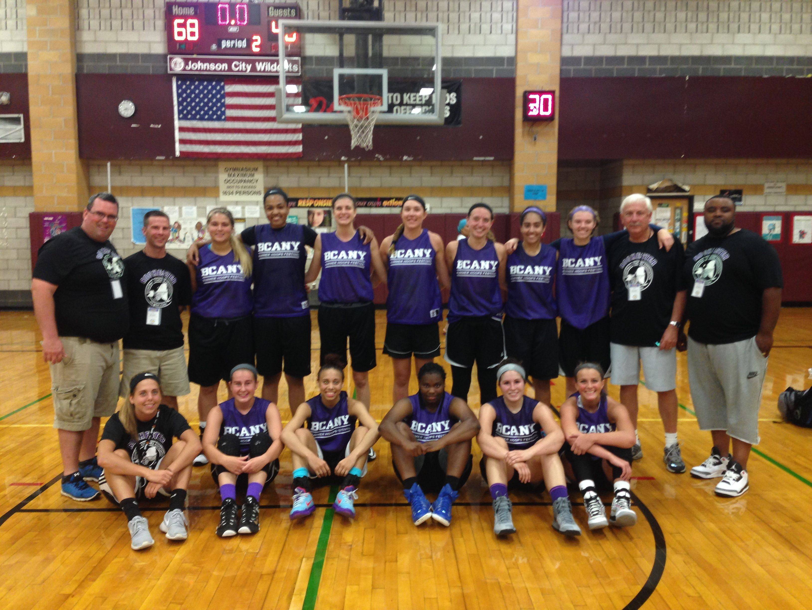 The 2015 Rochester girls basketball team, silver-medalist at Basketball Coaches Association of New York Summer Hoops Festival in Johnson City.