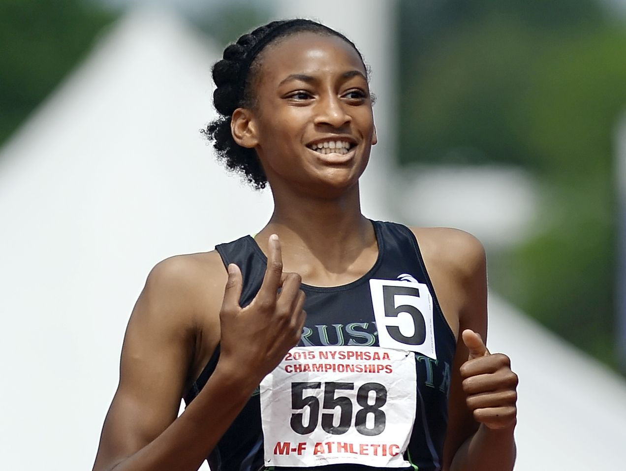 Rush-Henrietta's Sammy Watson won the girls 400 and 1,500 state championships near the end of the last high school outdoor track and field season. Watson later ran at the U.S. Olympic Trials for the games in Rio de Janeiro.