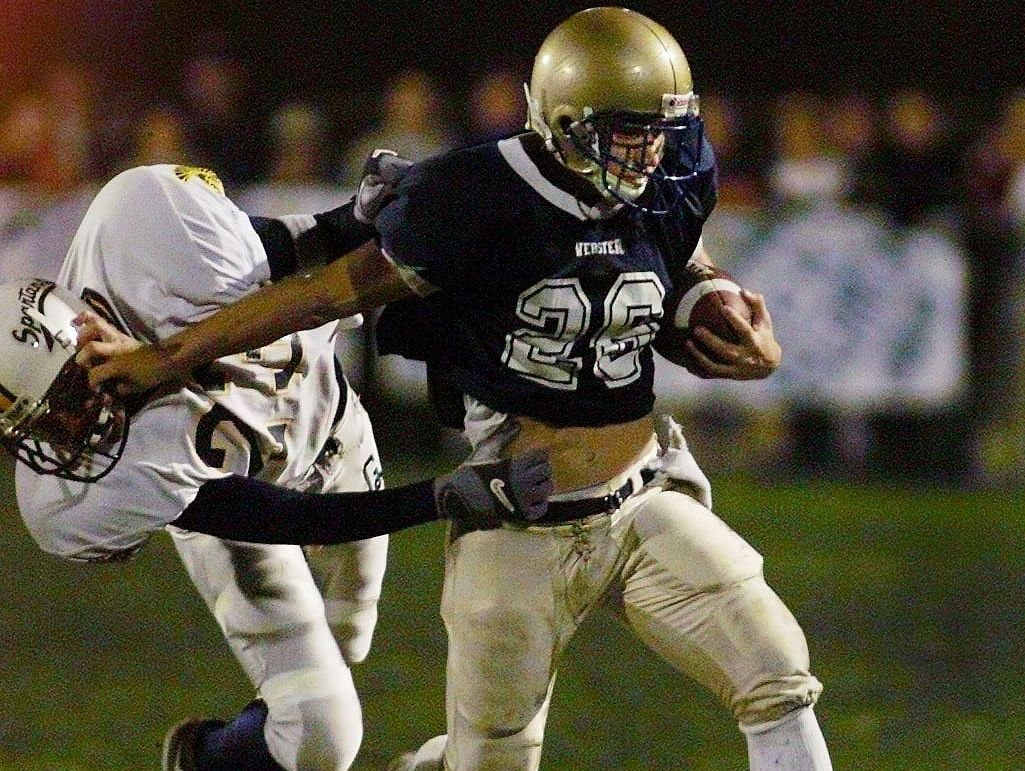 Webster graduate Carl Garritano is third all-time in Section V Football history with 76 touchdowns from 1999-02.