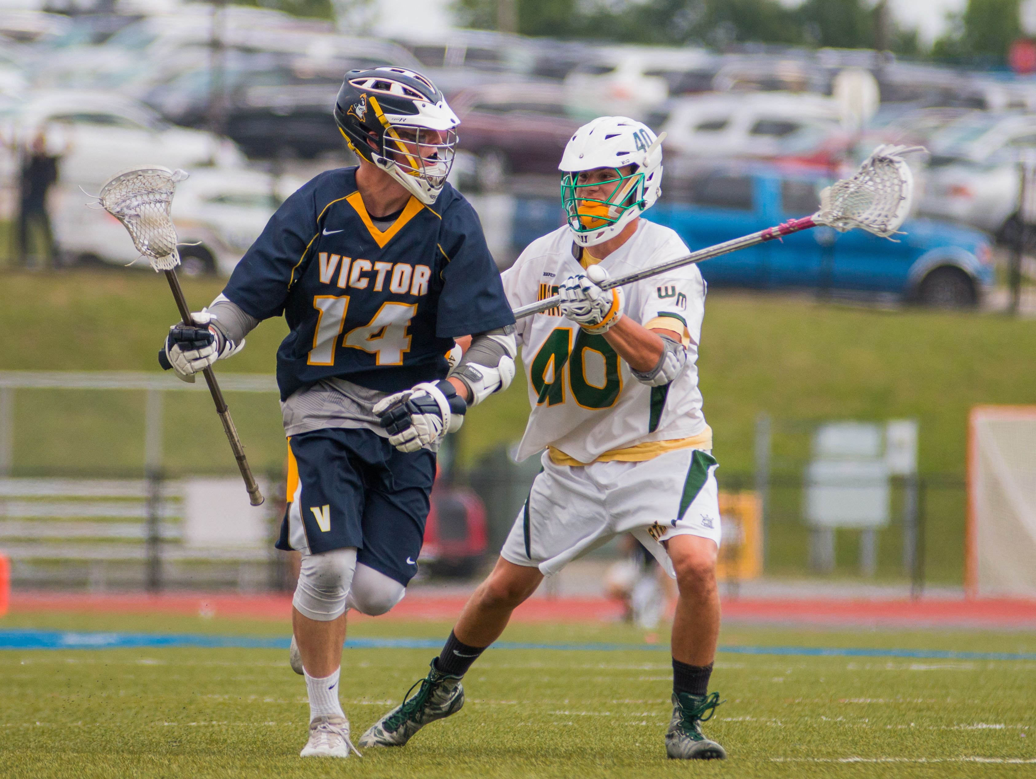 Victor senior Ryan Maloney led the Blue Devils with 108 points, 60 goals and 48 assists, each team-highs.