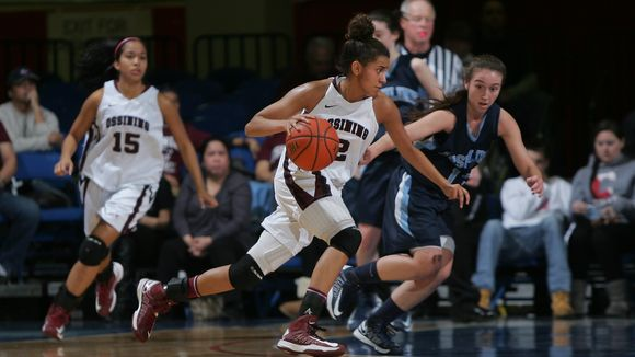 Ossining's Andrea Espinoza-Hunter (2) drives to the net as Ossining and Ursuline play the Girls Class AA Sectional semi-final basketball game on Feb. 28, 2013 at the Westchester County Center in White Plains. (Photo: John Meore, The Journal News)