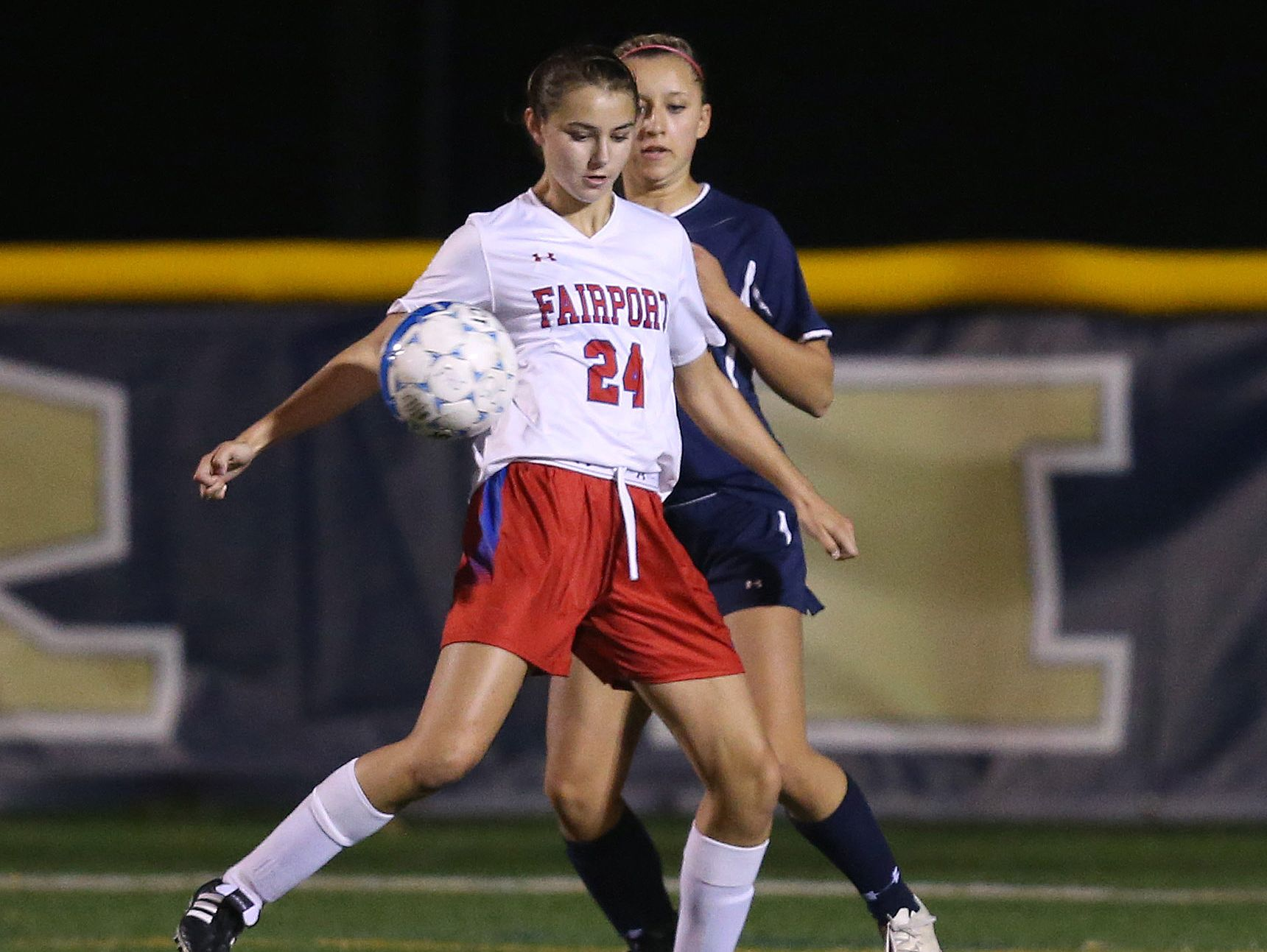 Fairport junior forward Claire Myers leads the Red Raiders attack with six goals and five assists in their 6-0 start. The daughter of former Rochester Rhinos coach Jesse Myers was All-Greater Rochester last fall.