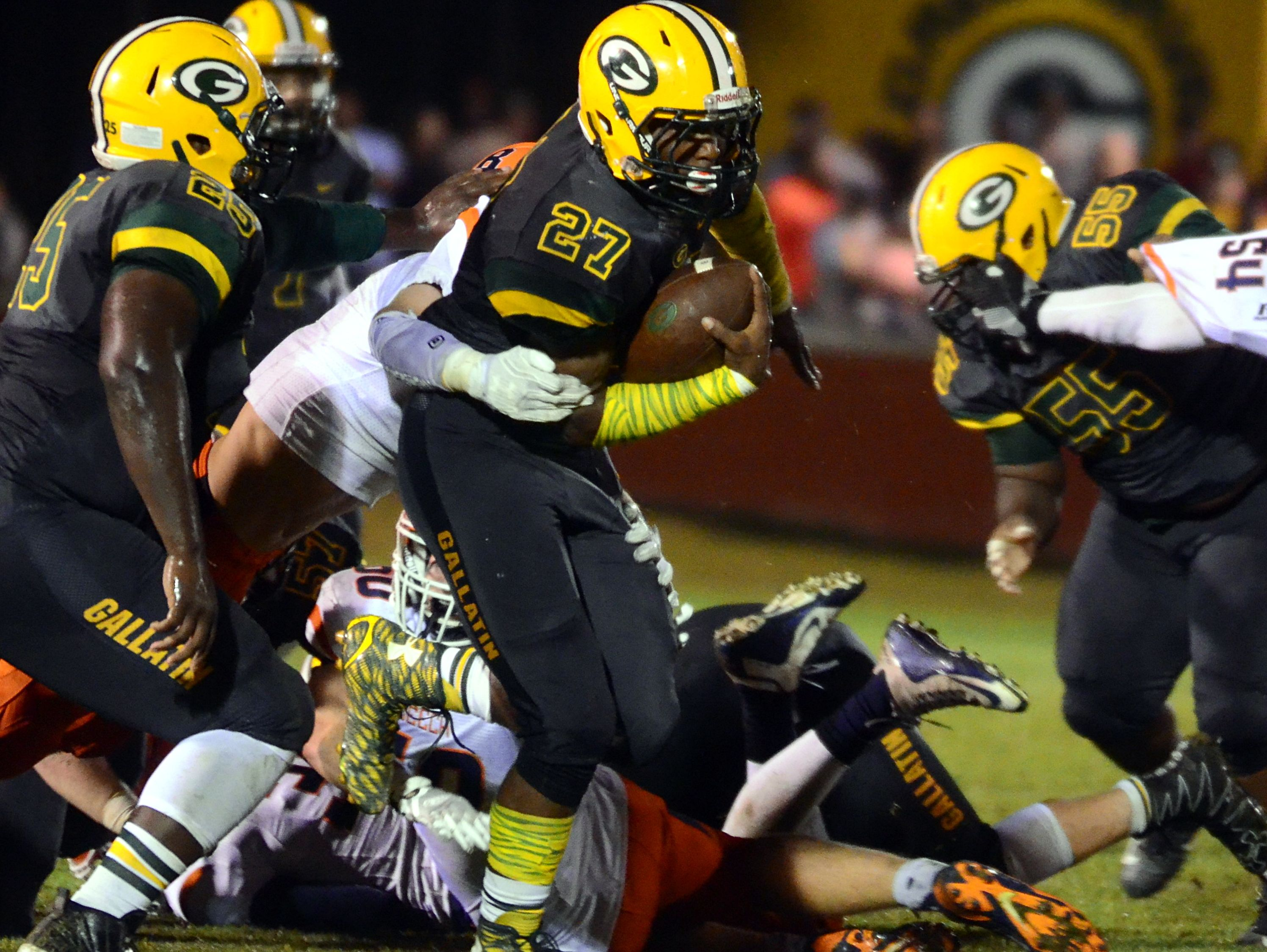 Gallatin High senior Jordan Mason has rushed for 2,030 yards and 23 touchdowns this season.