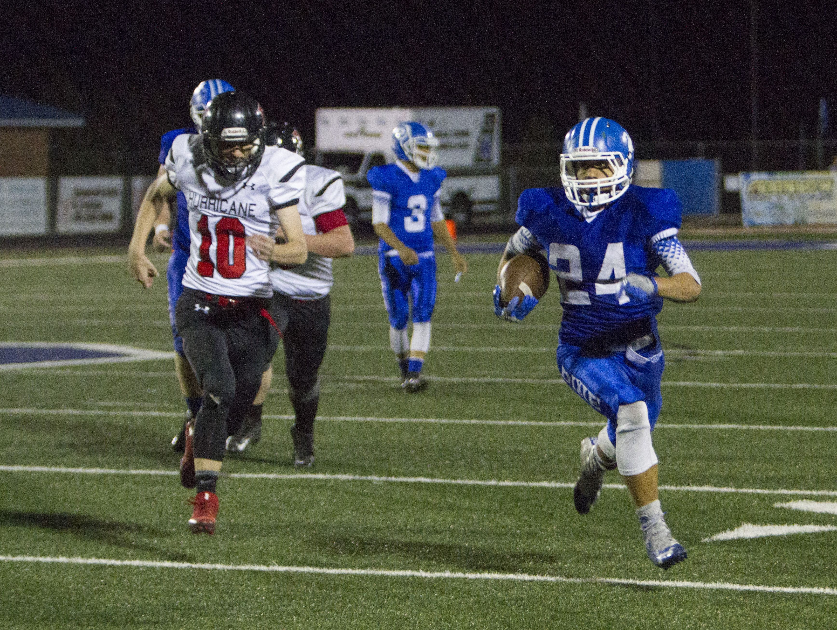 Dixie High football claims 42-14 victory over Hurricane High School Friday, Oct. 21, 2016.