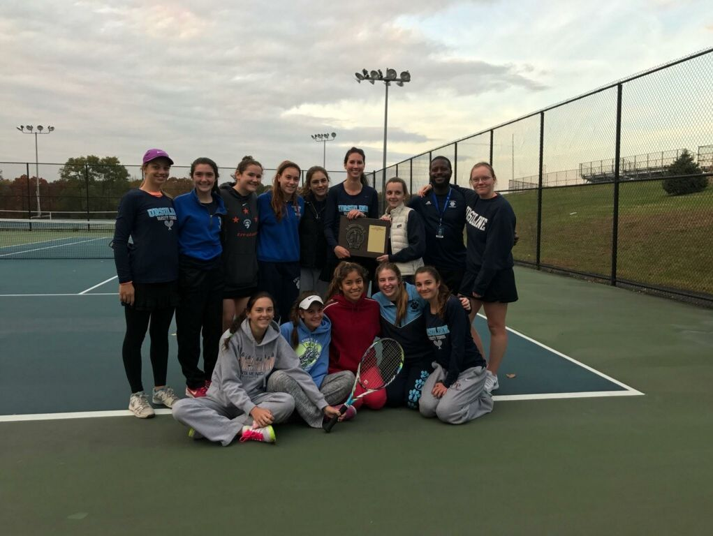 The Ursuline girls' tennis team captured the 2016 Section 1 title.