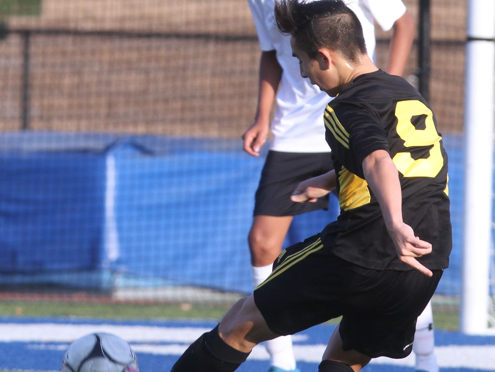Hastings defeated Fallsburg 2-1 in the Class B boys soccer semifinal at Middletown High School Nov. 2, 2016.