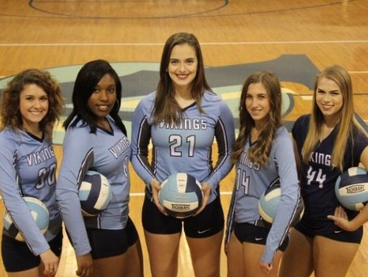 The Airline seniors played their final game Wednesday in a loss at Acadiana. Pictured are Ashley Haigler, Aspen Oliver, Lauren PIlcher, Haylea Patterson and Cassie Bailey.