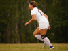 New Paltz High School soccer player Alexis Garcia runs on defense against Red Hook on Aug. 31. She suffered a torn anterior cruciate ligament later in the game.