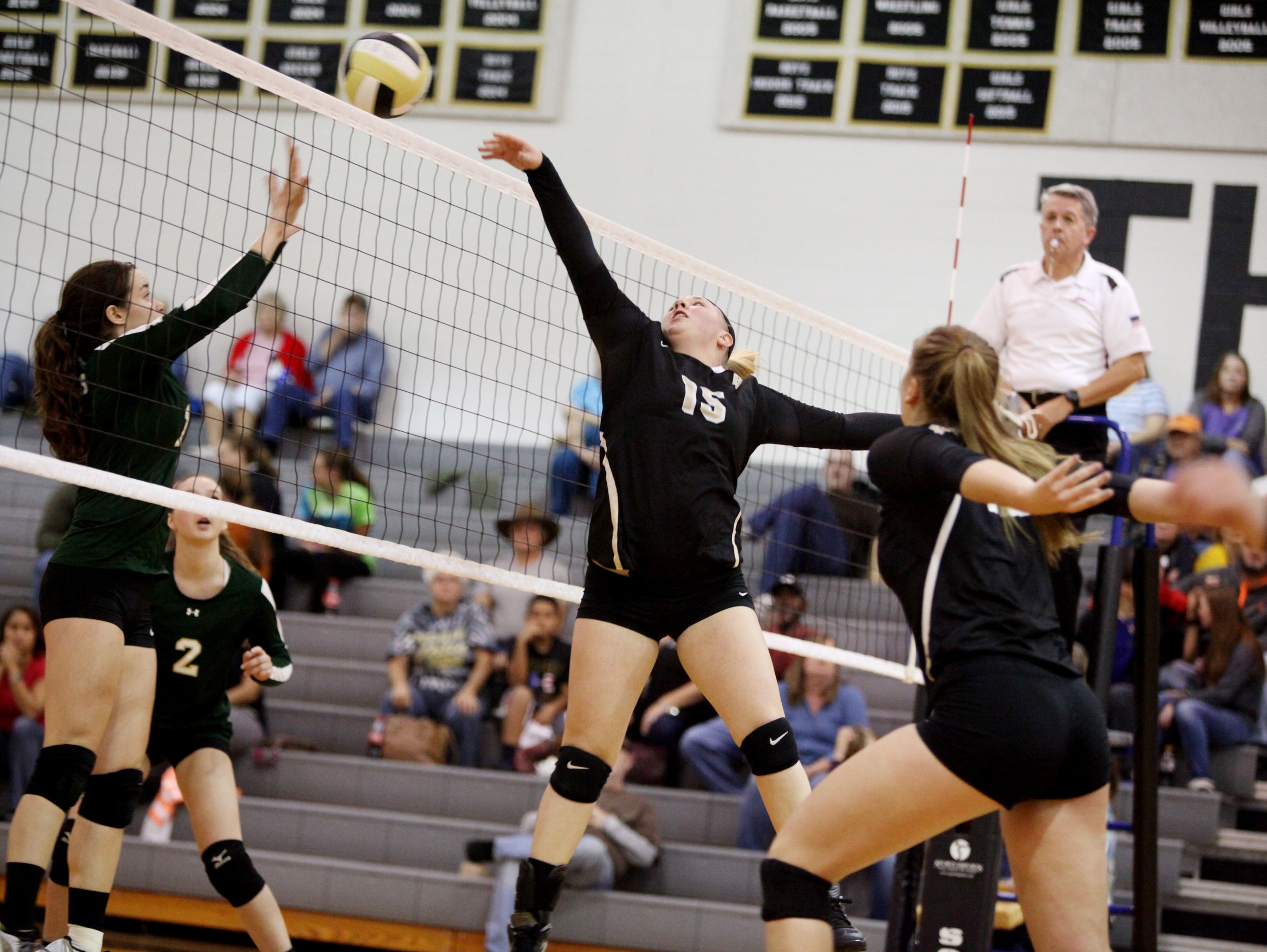 Buffalo Gap's Camille Ashby (15) will be a key part of her team's attack as the Bison travel to Marion Senior Tuesday for the VHSL 2A state semifinals.
