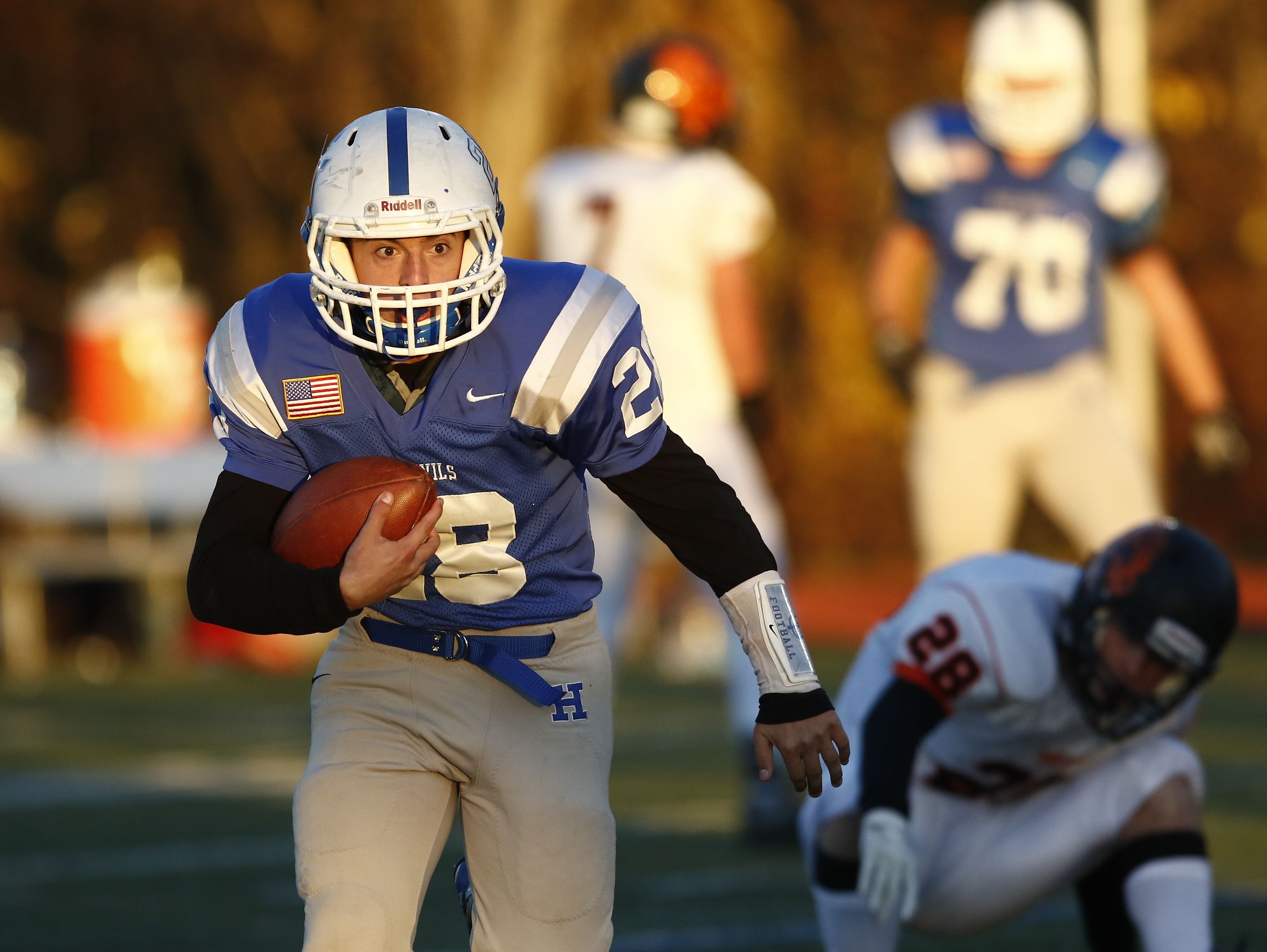 Haldane defeats Tuckahoe 26-6 in the Section 1 Class D championship football game at Mahopac High School on Friday, November 4, 2016.