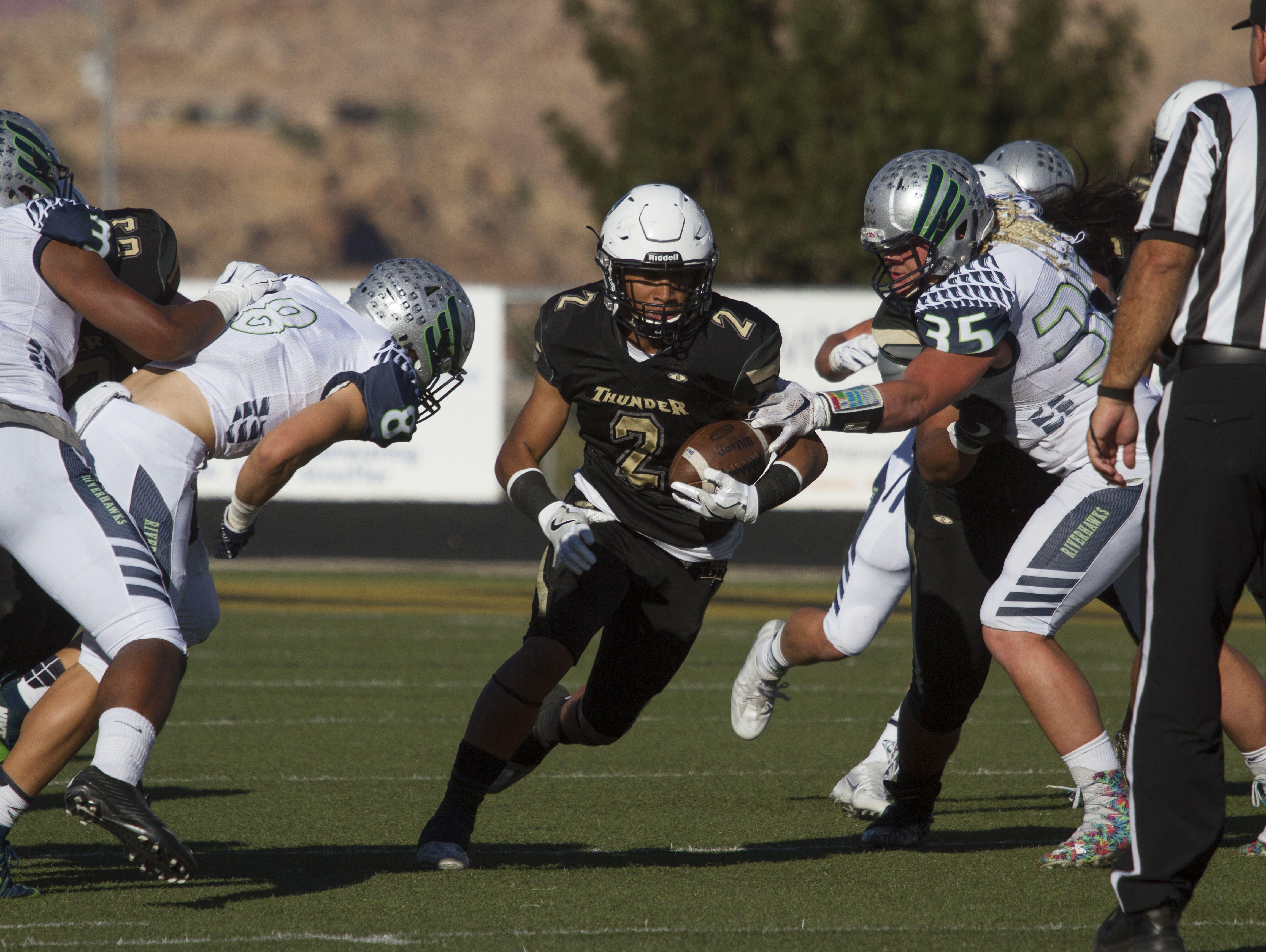 Desert Hills football defeats Ridgeline 49-24 in quarterfinals Friday, Nov. 4, 2016.