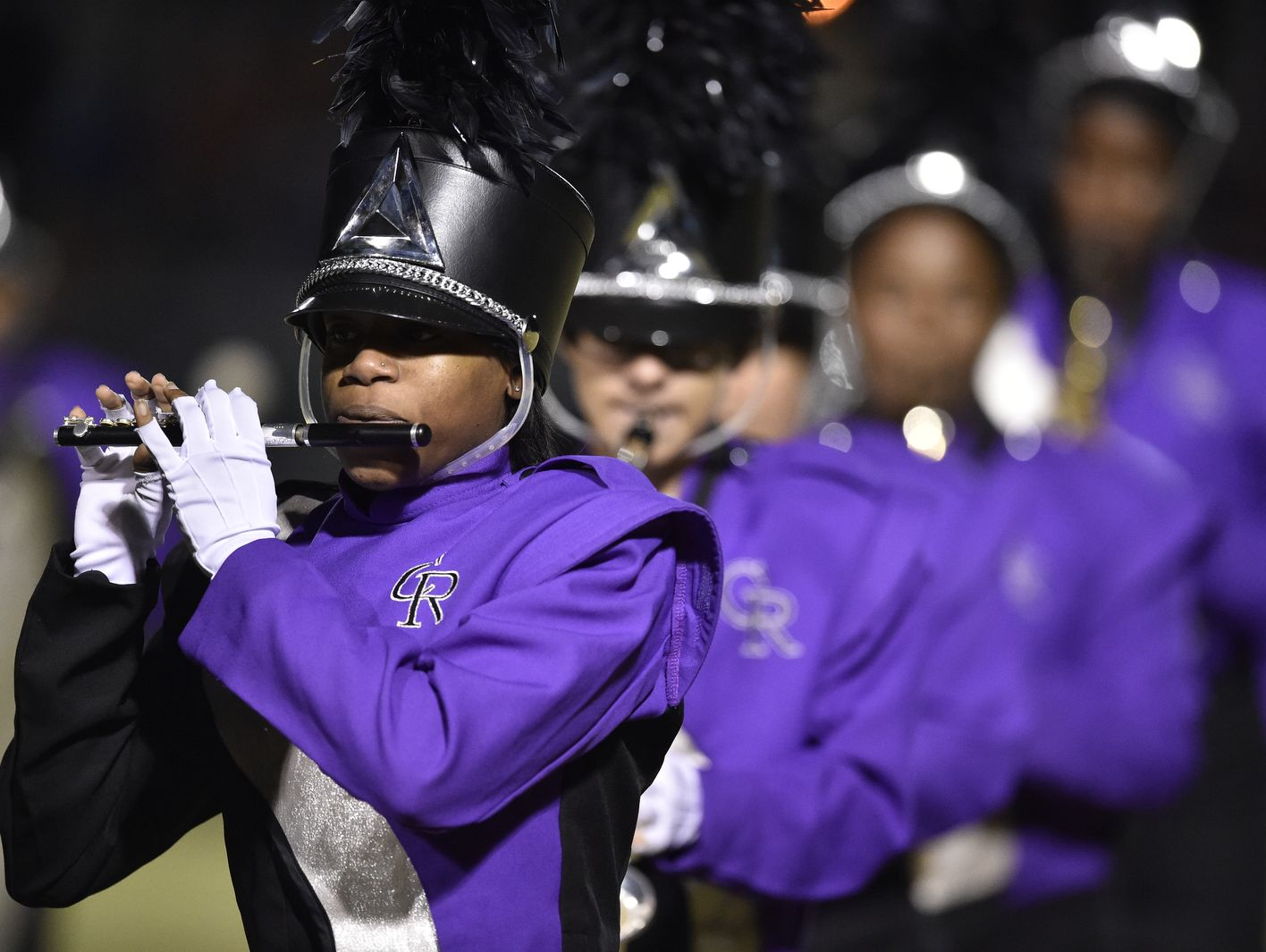 Cane Ridge band performs at the half of the game against Summit on Friday, November 4, 2016.