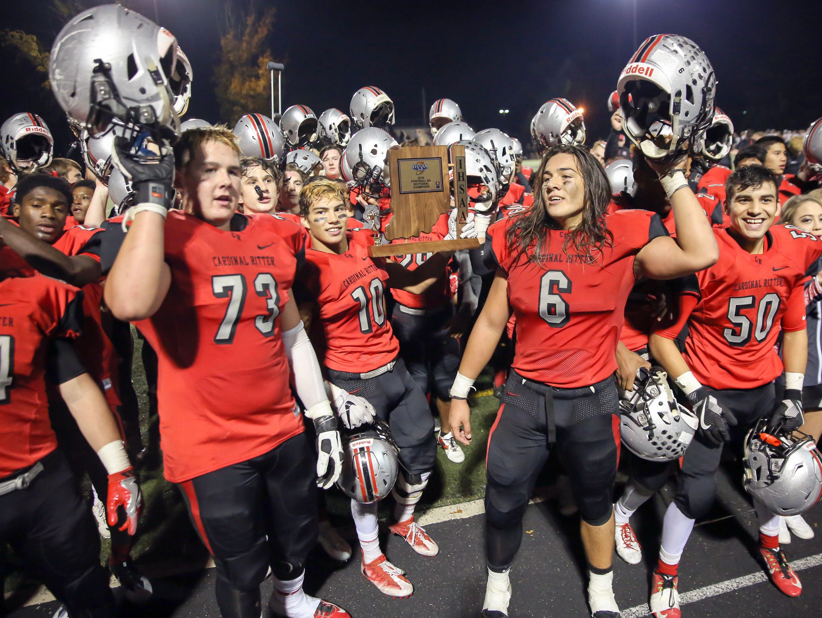 Cardinal Ritter defeated Lapel 26-21 to win the the Sectional 37 crown on Friday night.