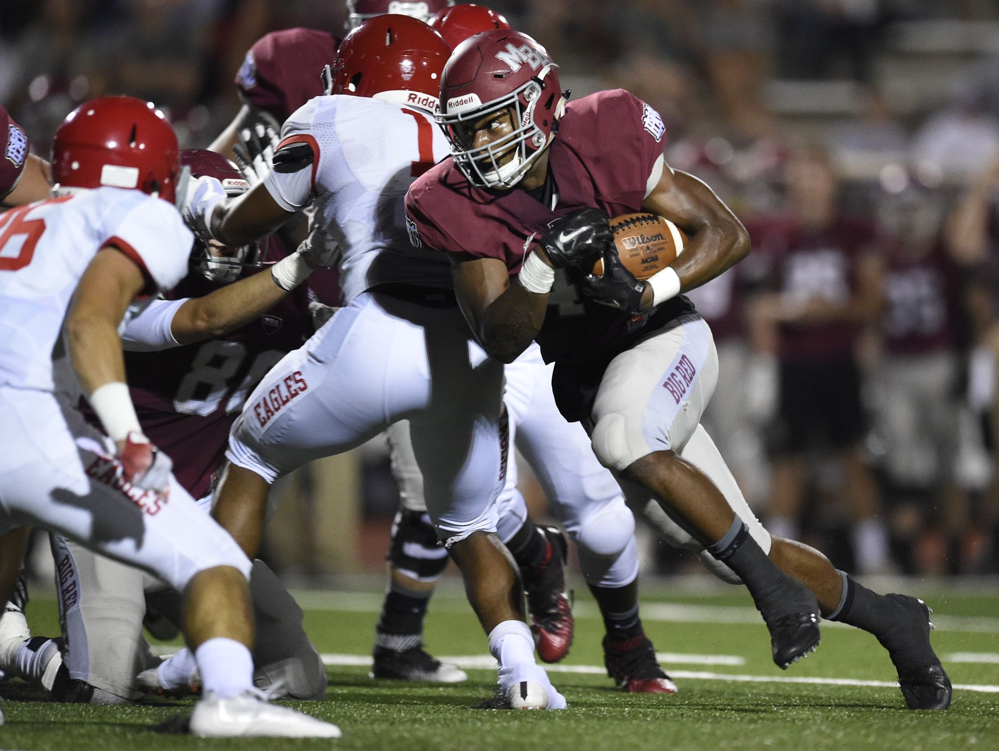 MBA's Ty Chandler has rushed for a Midstate-leading 31 touchdowns this season.