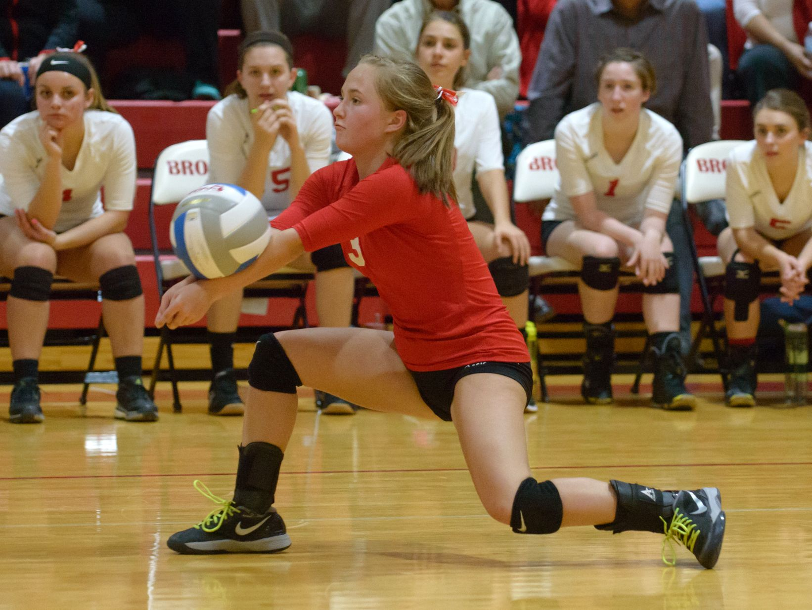 St. Philip's Alexis Pessetti (3) in game action Tuesday night.