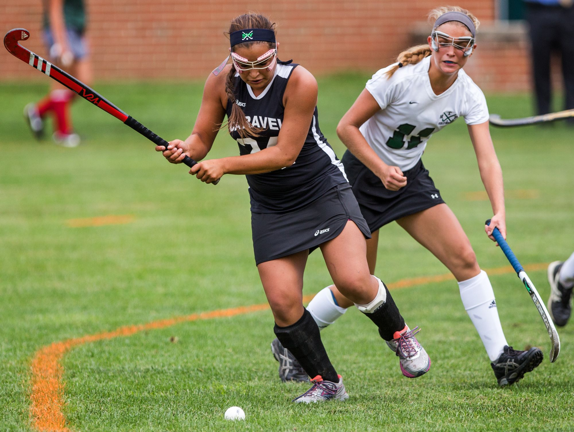 Caravel's Olivia Duarte (left), seen here against Mount Pleasant, scored two goals as the Buccaneers defeated William Penn 3-0 on Tuesday.