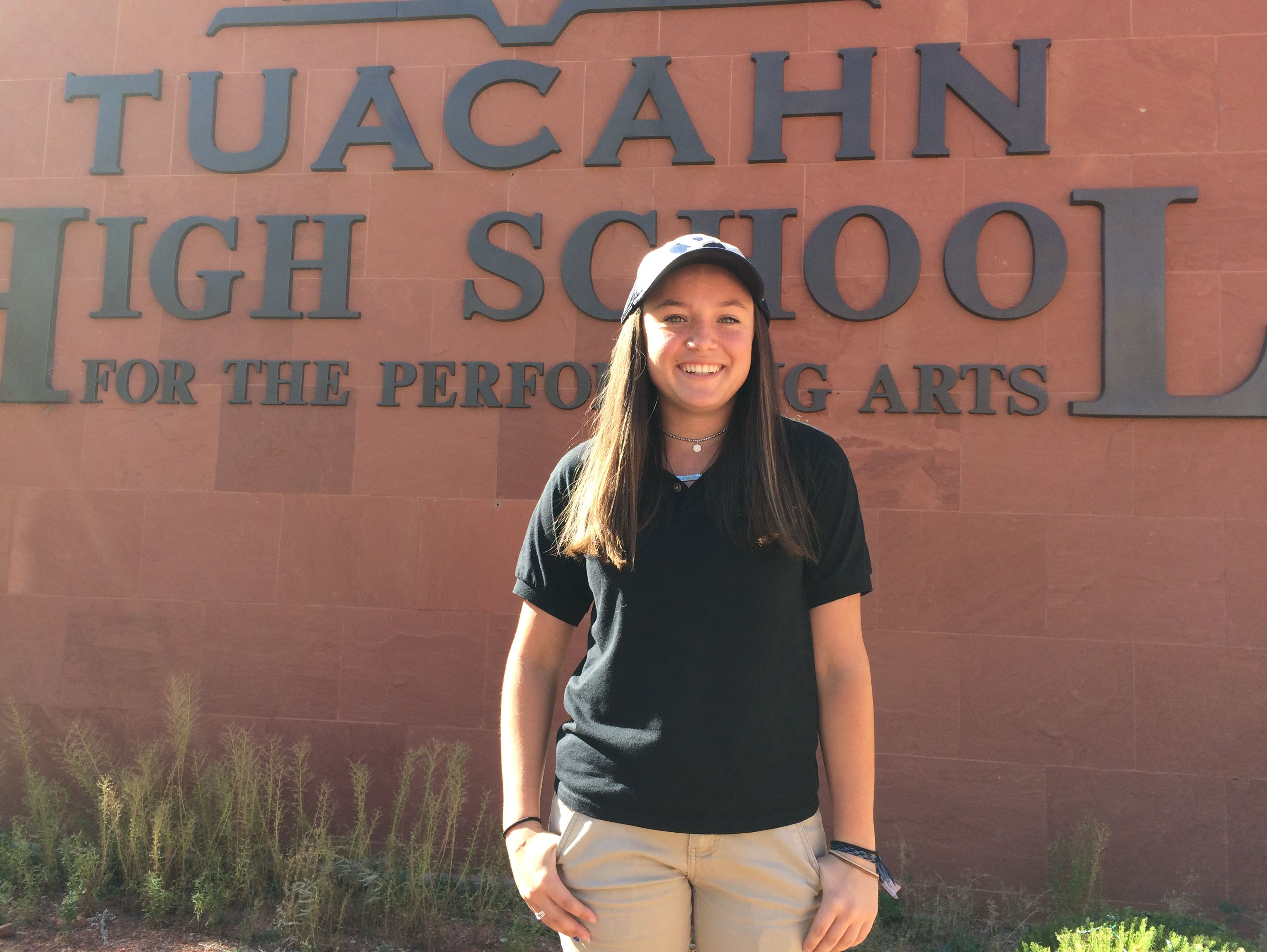 Gracie Richens signed her National Letter of Intent to play golf at Brigham Young University Wednesday at Tuacahn High School. Richens became the first-ever student to earn a Division I scholarship at Tuacahn High School. became the first-ever student to earn a Division I scholarship at Tuacahn High School For The Performing Arts.