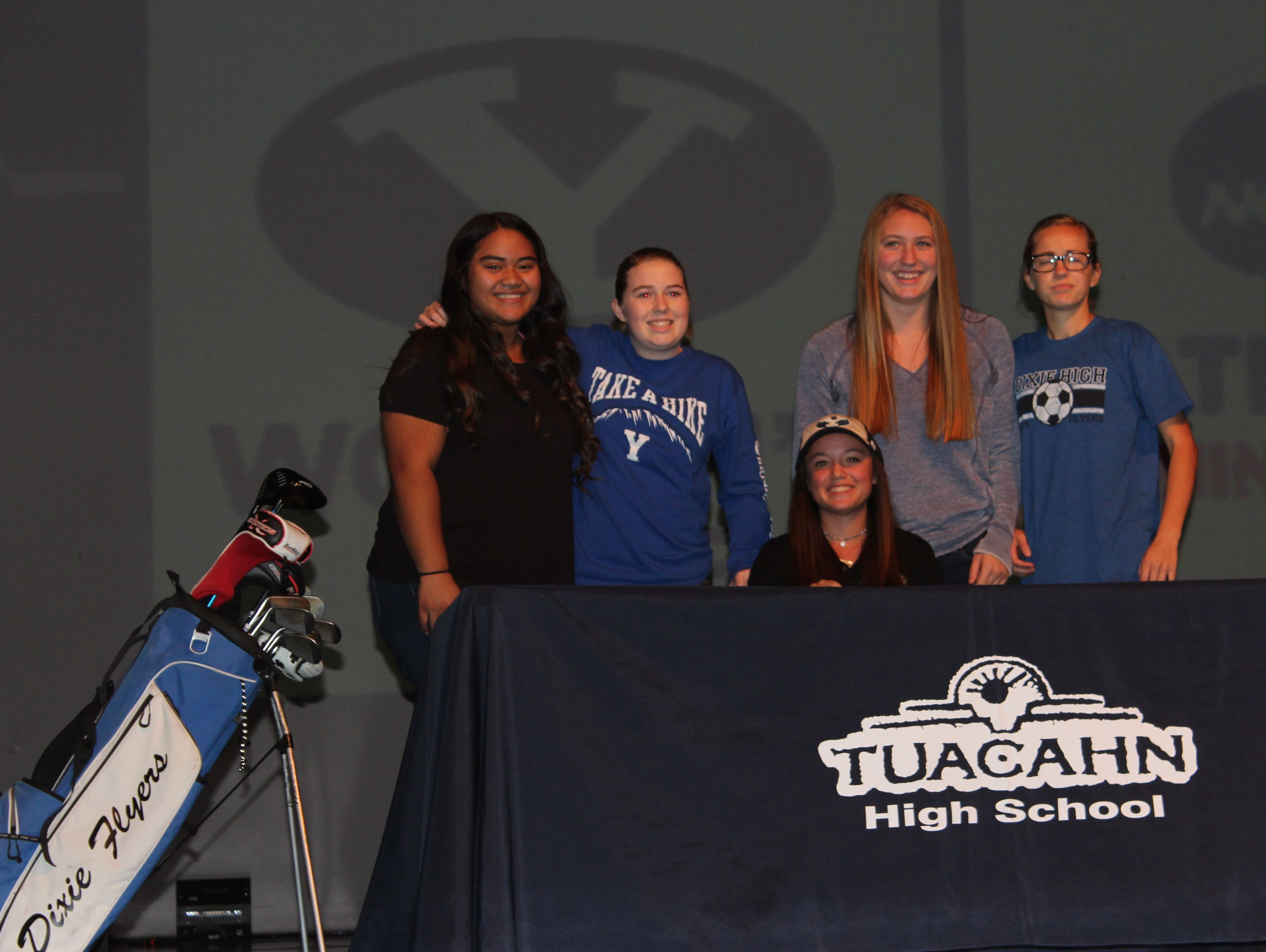 Gracie Richens signs her National Letter of Intent on Wednesday to play golf at BYU next year.