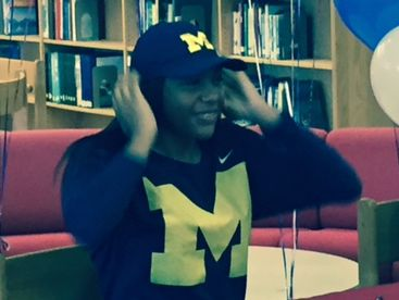 Southfield A&T's Deja Church signs letter of intent to play college basketball at Michigan on Wednesday.