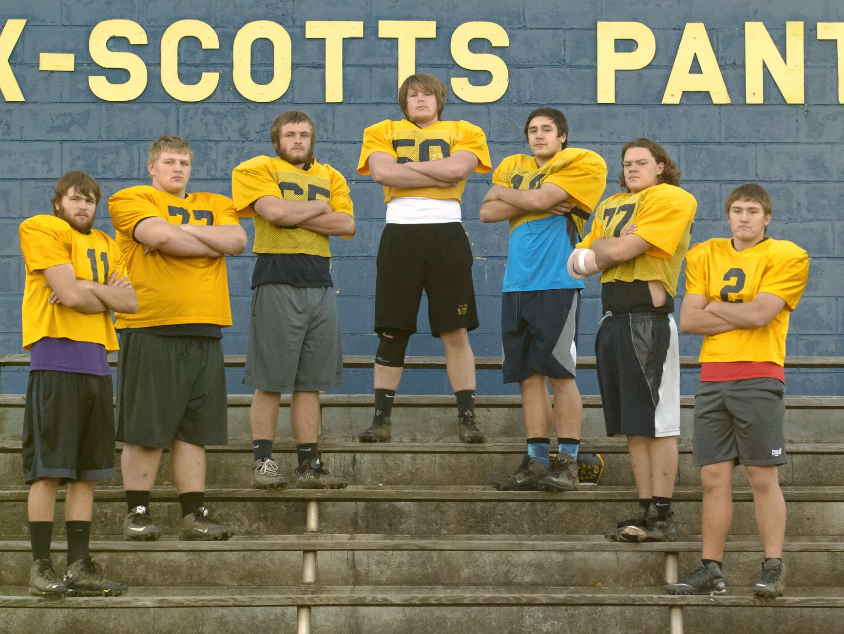 The Climax-Scotts offensive line is made up of all seniors and is anchored by Matthew Middleton at center with T.J. Gibson and Tyler Warner at the guards, Austin Liska and Ethan Simmons at the tackles and Ridenour and Zach Scholly at the tight ends.