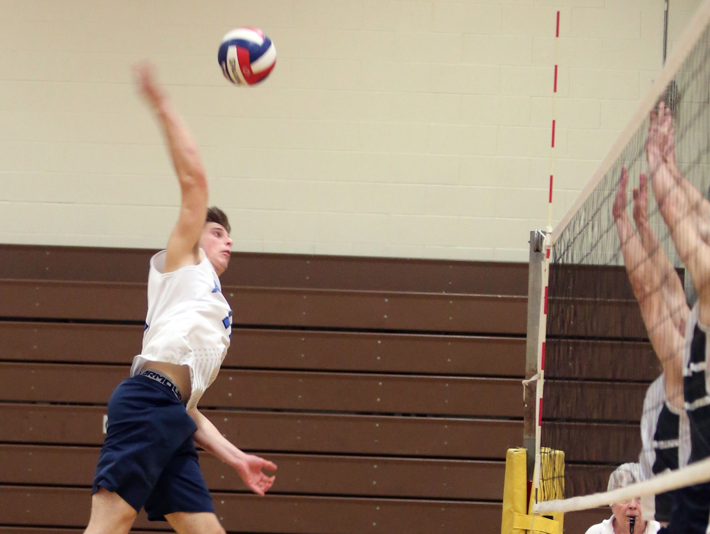 Shenendehowa defeats Suffern during boys volleyball's regional match at Clarkstown South High School in West Nyack on November 10, 2016.