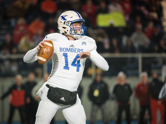St. Xavier quarterback Sean Clifford (14) passes the ball in the first quarter in the OHSAA playoffs (Photo: Madison Schmidt for The Enquirer)