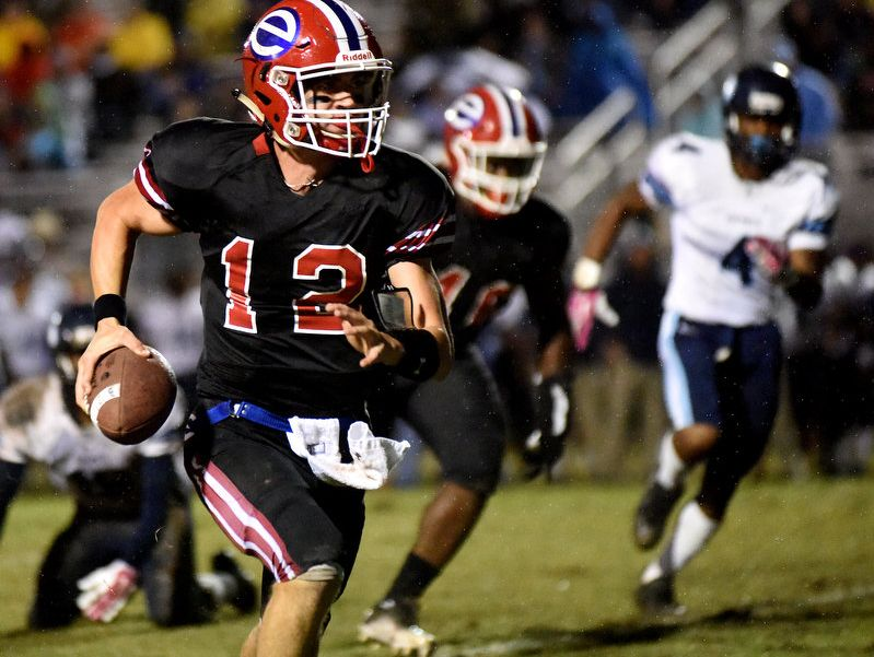 Connor Curry and the Evangel Eagles dominated Holy Cross on Friday night.