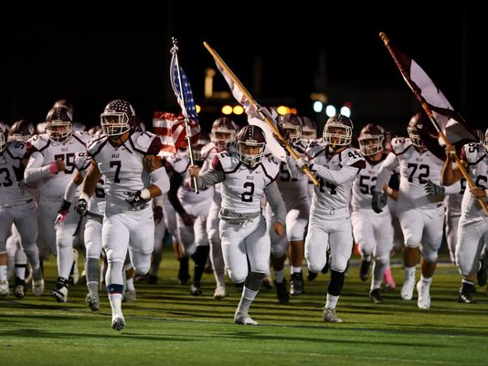 Wayne Hills takes the field before a game last month (Photo: Michael Karas, Gannett New Jersey)