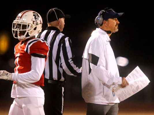 Kevin Creasy surveys action on the field during Friday's 6A quarterfinals win over Hardin Valley. (Photo: File / Helen Comer / DNJ)