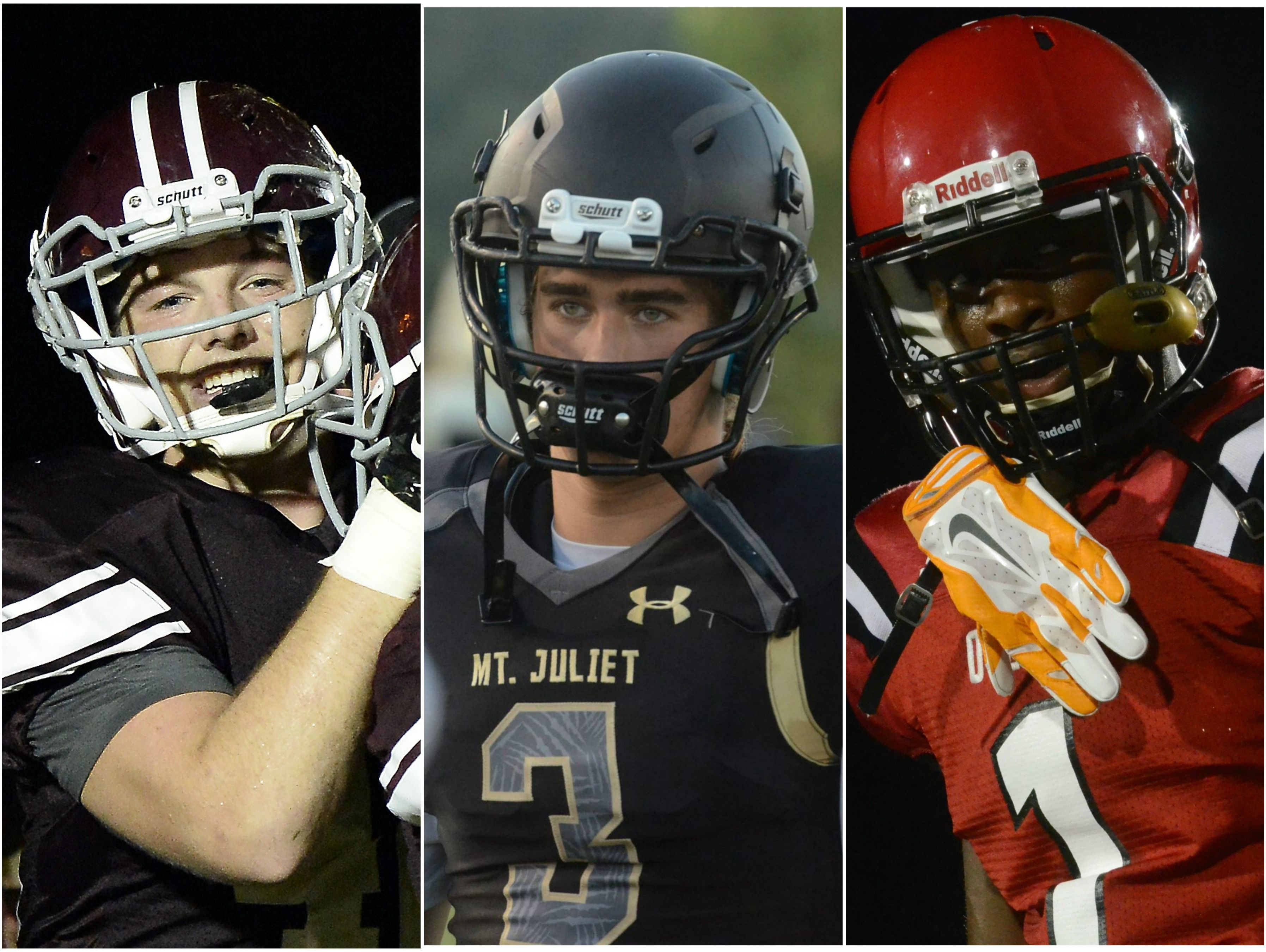 Franklin's Mitch Rossi (left), Mt. Juliet's Mason Earls (middle) and Overton's Theo Jackson (right)