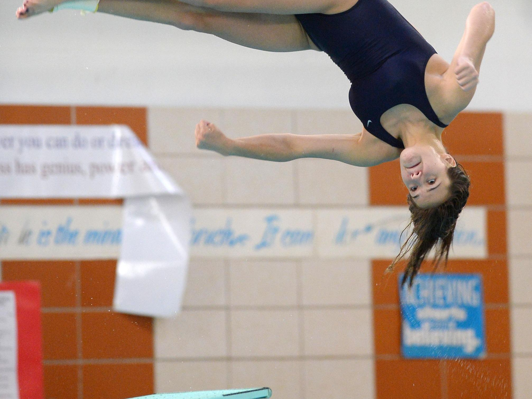 Pittsford's Sydney Sarkis executes a dive.