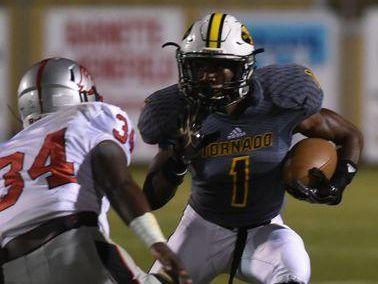 Haynesville running back Treyon Hunter found the end zone twice Friday, including a punt return to begin the scoring against Lake Charles Prep.