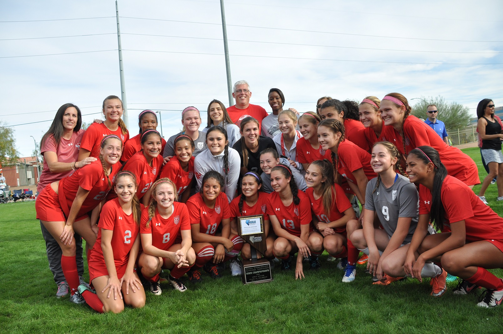 Arbor View High School is the only large-school soccer program in Nevada history - boys or girls - to win more than three consecutive state championships. The Aggies won their fifth straight state championship, with a 4-1 win. (Photo: Courtesy of Arbor View soccer)