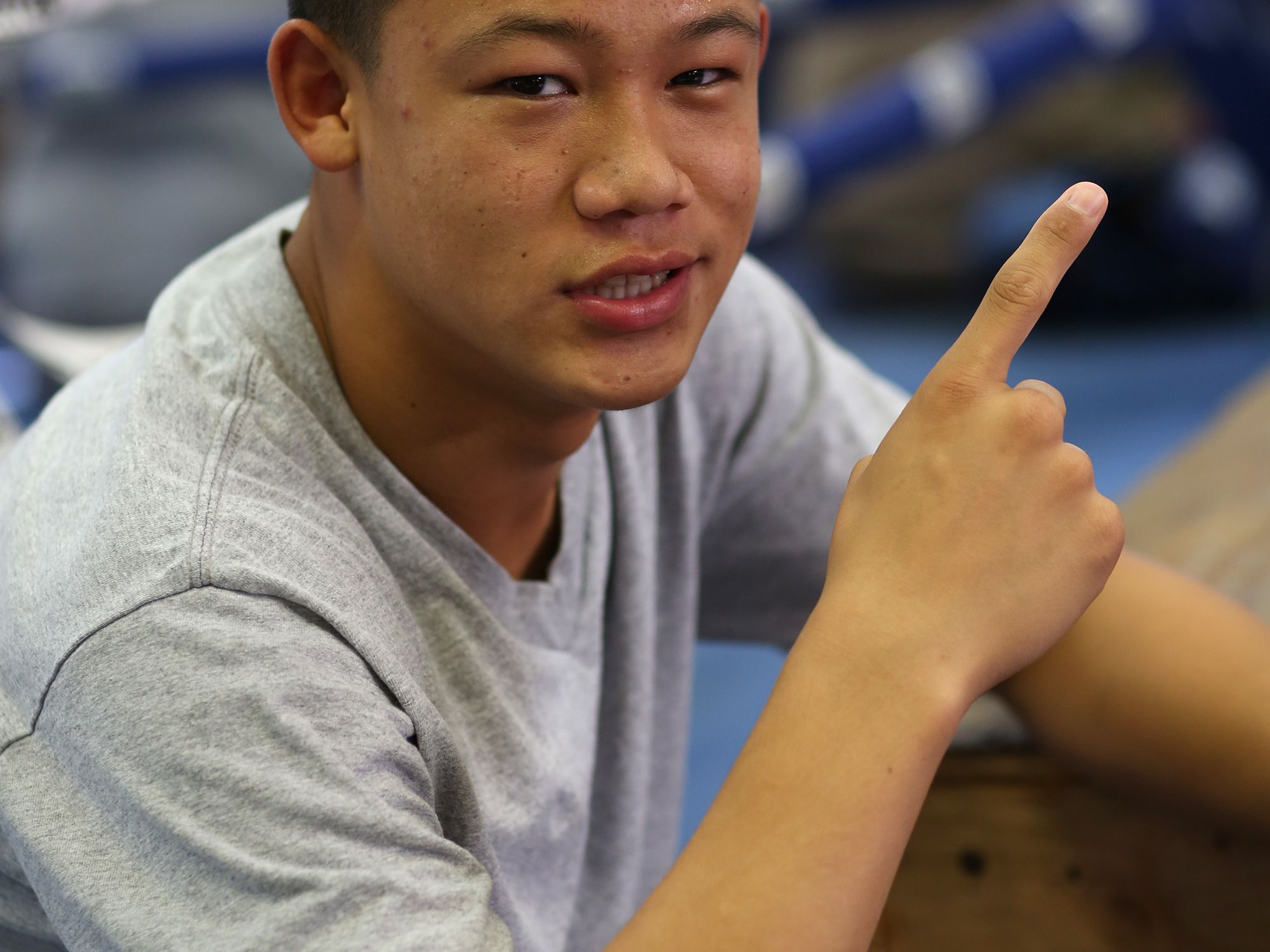 Brandun Lee is photographed at the Coachella Valley Boxing Club in Coachella CA,, Wednesday, July 9, 2014. He will be on the fight card for the Desert Showdown boxing event at Fantasy Springs Resort Casino next week.