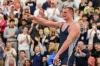 1/24/16 12:39:37 PM -- Blairstown, NJ, U.S.A -- Blair Academy vs. Wyoming Seminary high school wrestling. Blair Academy Junior Chase Singletary , shown, celebrates his 3-1 victory over Wyoming Seminary Senior Nick Reenan in the 195 match. Blair Academy won, 35-20. Photo by Vincent Carchietta/USA TODAY Sports Images, Gannett ORG XMIT: US 134401 prep wrestling 1/23/2 [Via MerlinFTP Drop]