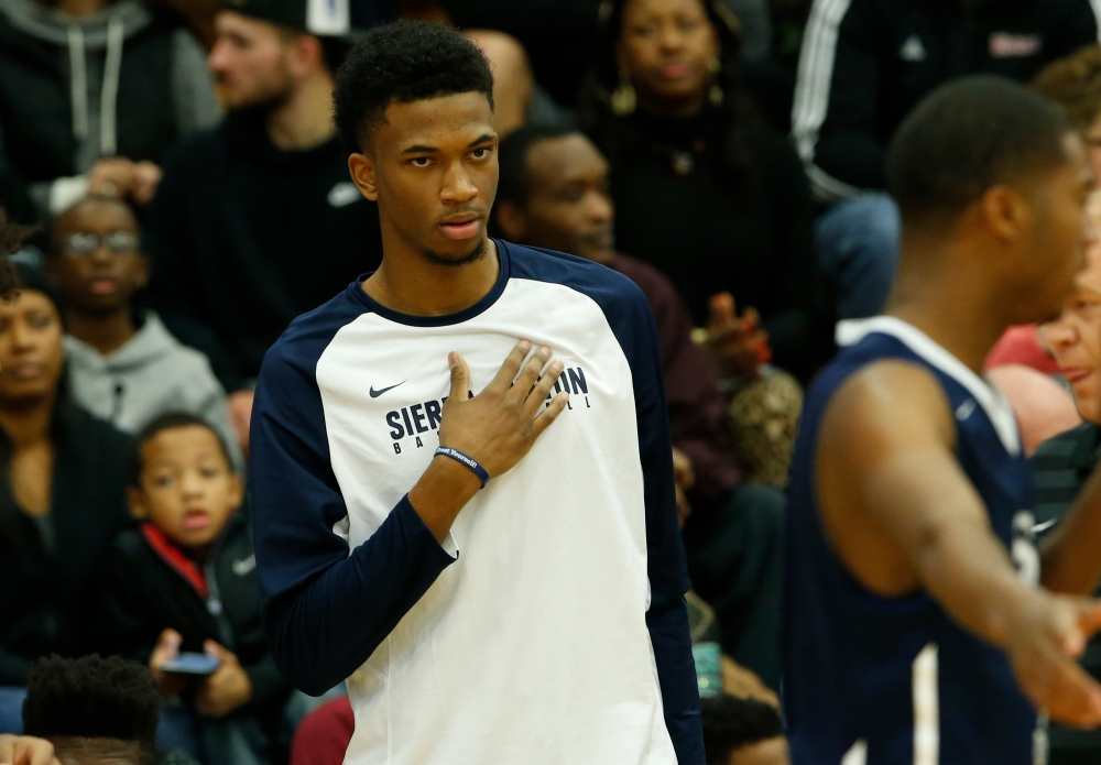 Jan 18, 2016 -- Springfield, MA, U.S.A -- Sierra Canyon Marvin Bagley on the sideline as they take on the Montverde in the first half of the Spalding Hoophall Classic at Blake Arena in Springfield, Mass. -- Photo by David Butler II-USA Today Sports Images ORG XMIT: US 134344 Spalding Hoophal 1/17/2016 [Via MerlinFTP Drop]