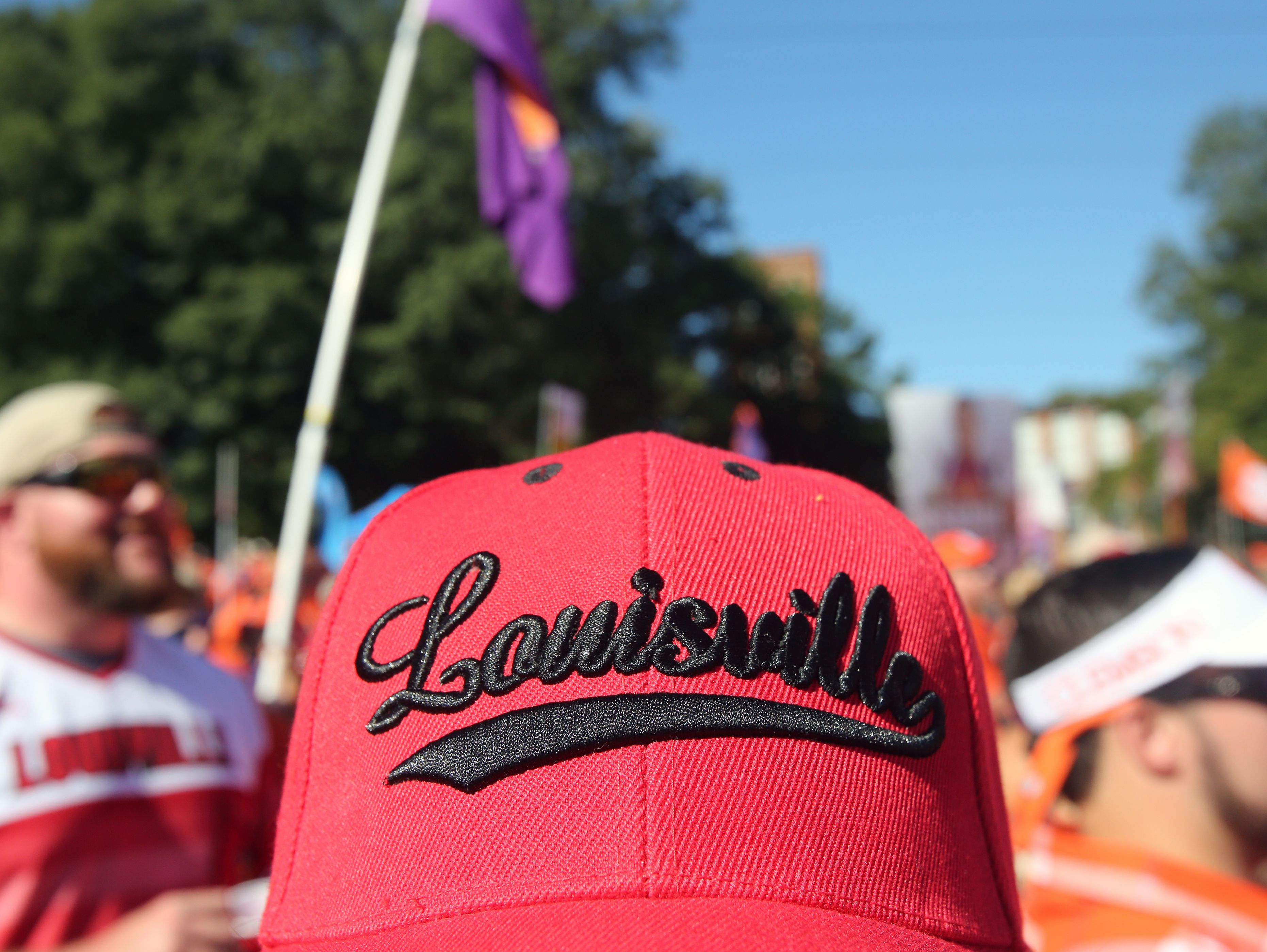 Louisville fans show up for College Gameday at Clemson. Oct. 1, 2016