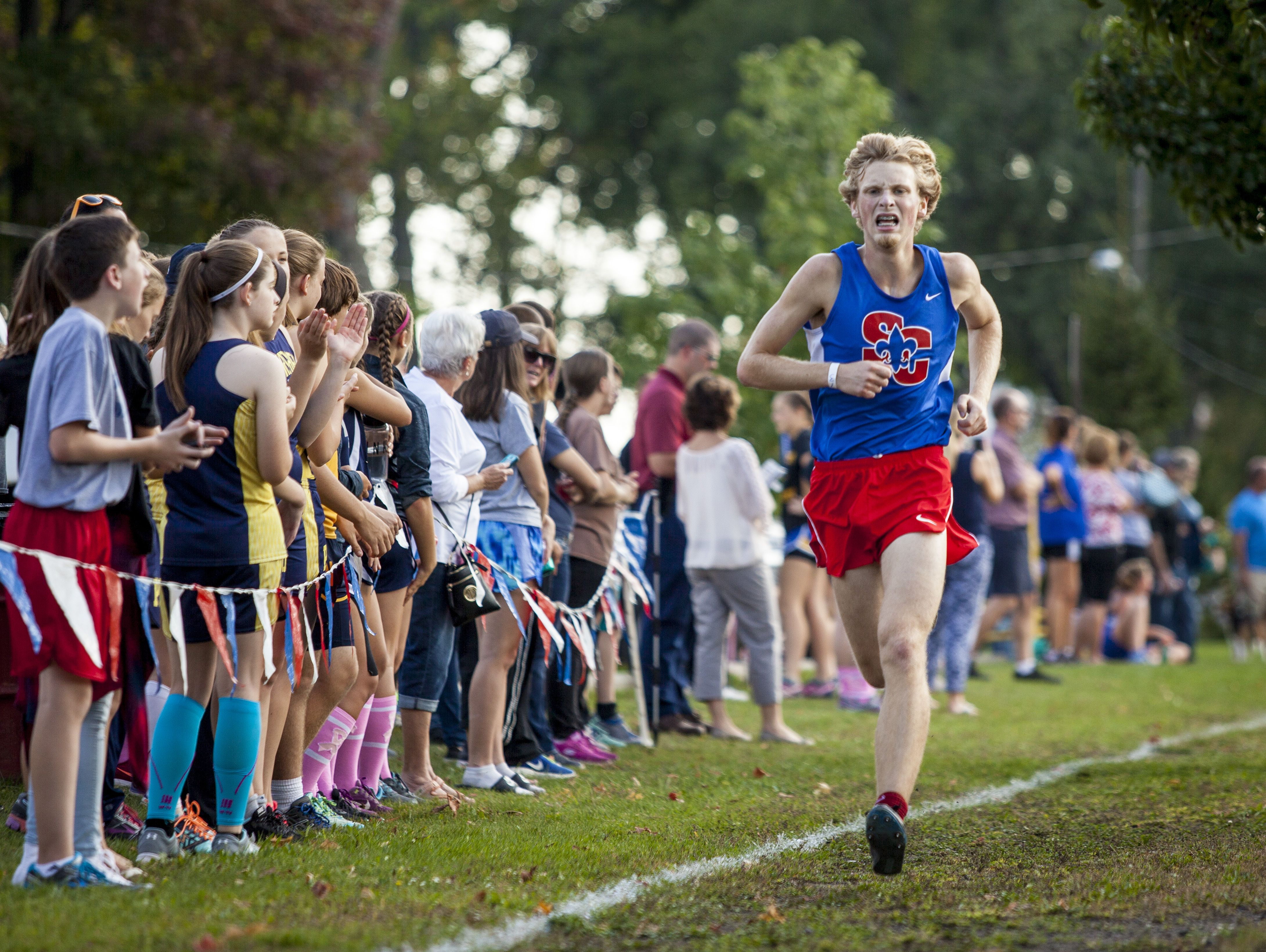 St. Clair's Josh Williams finishes fifth during the Marysville Invitational Thursday, Oct. 6, 2016 at Marysville City Park.