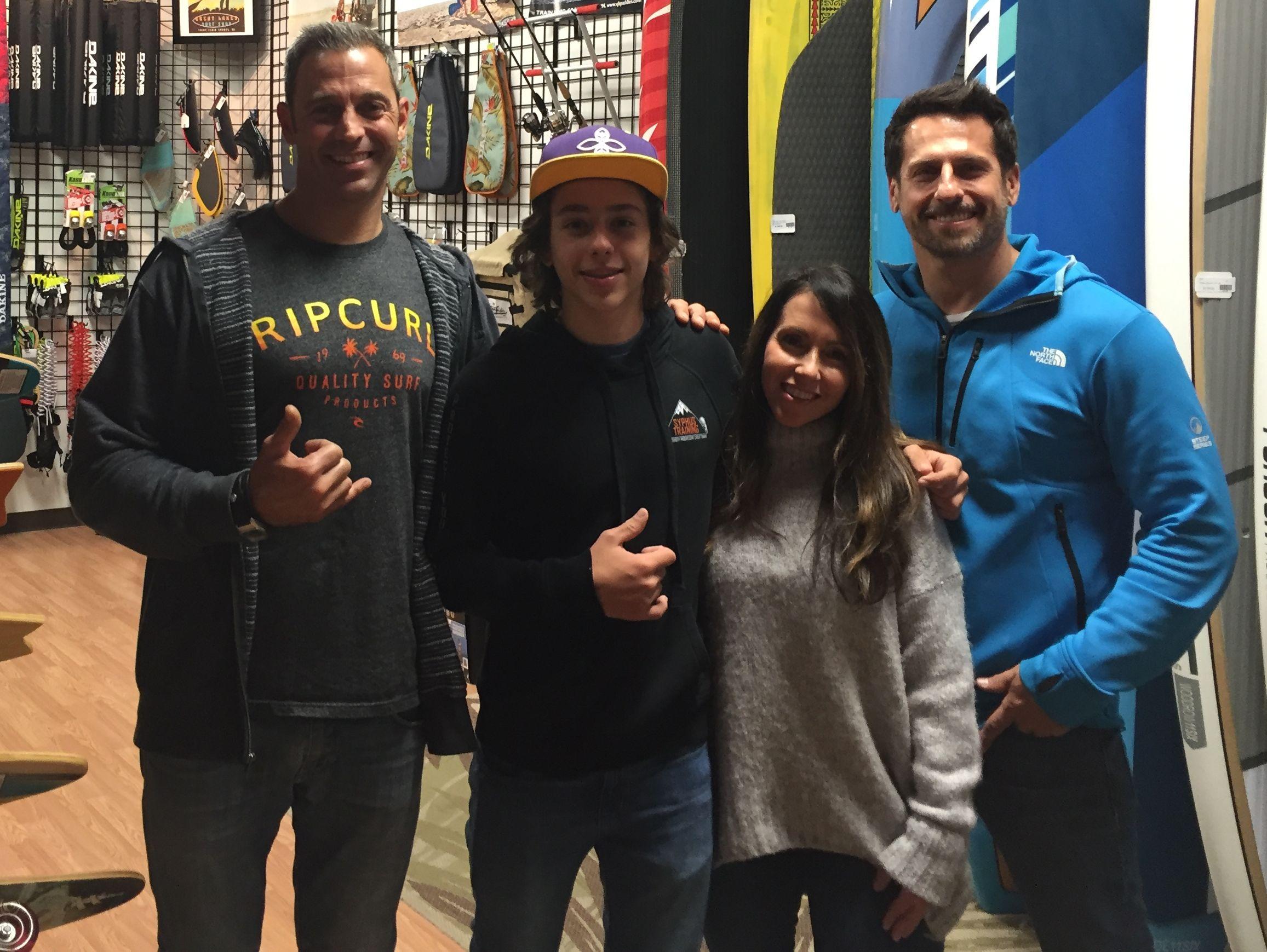 Tristan Ferrara at surf shop.