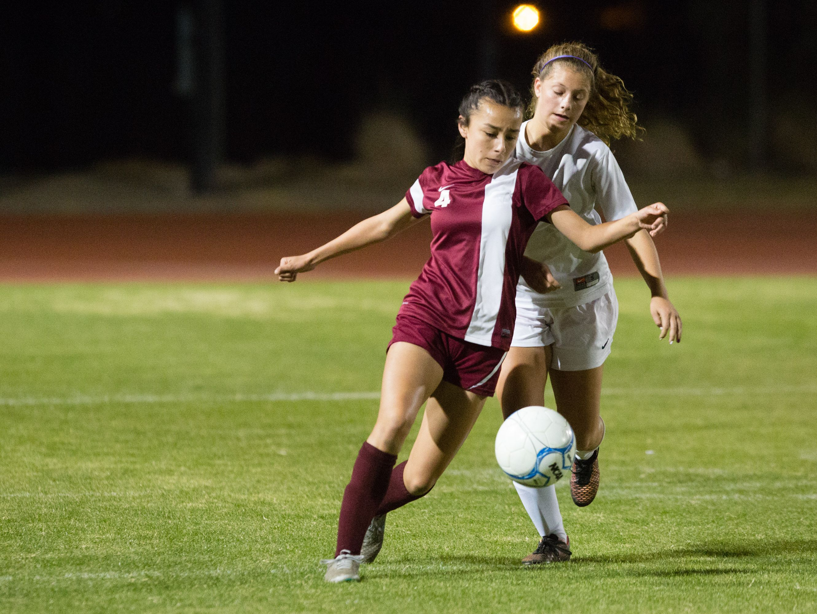Shadow Hills girls' soccer matches up against Colton, Thursday, Dec. 8, 2016.