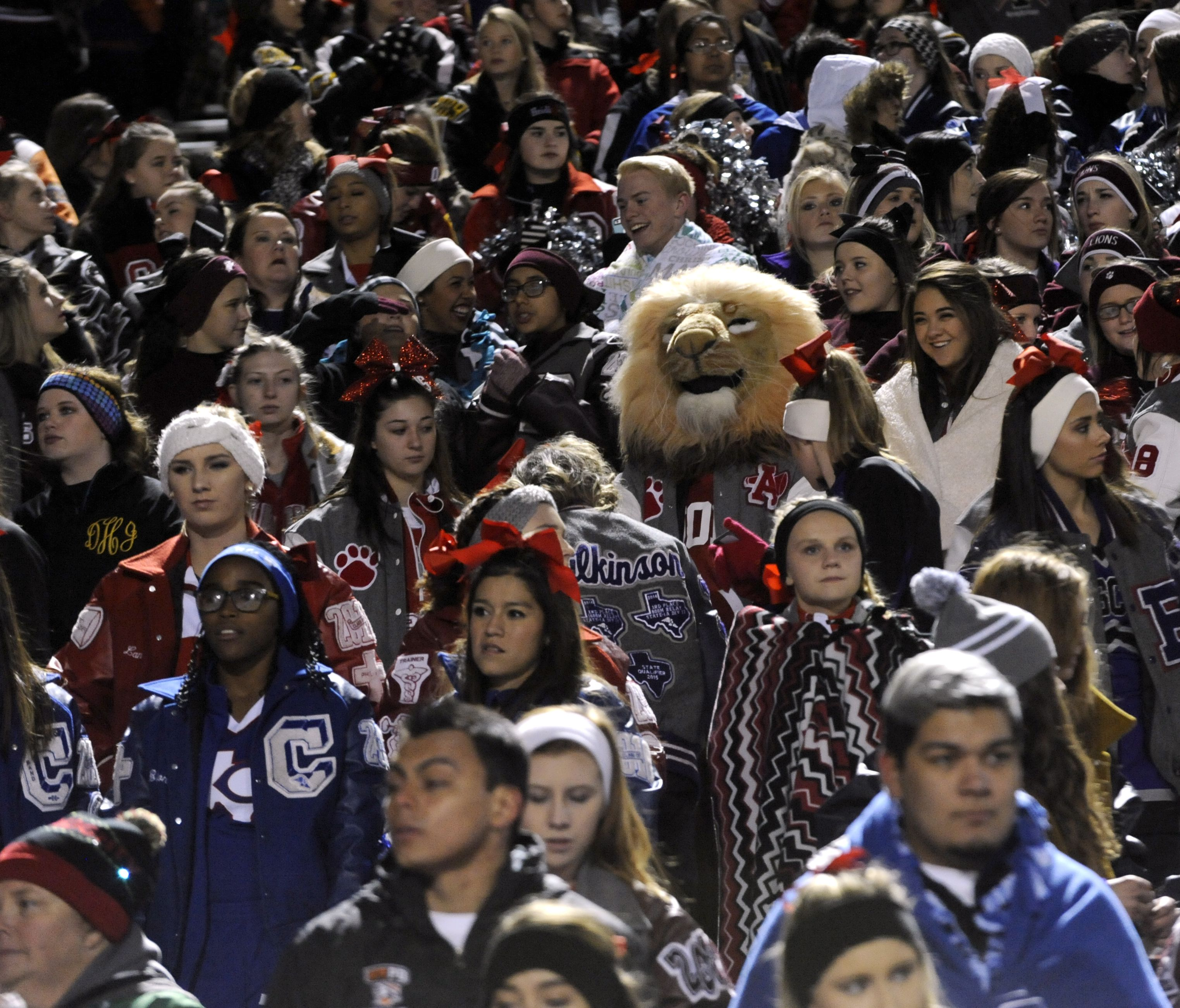 West Texas cheerleaders and their mascots packed Shotwell Stadium in Abilene Friday night to cheer on the Iraan Braves. (Photo: Ronald W. Erdrich, Abilene Reporter News)