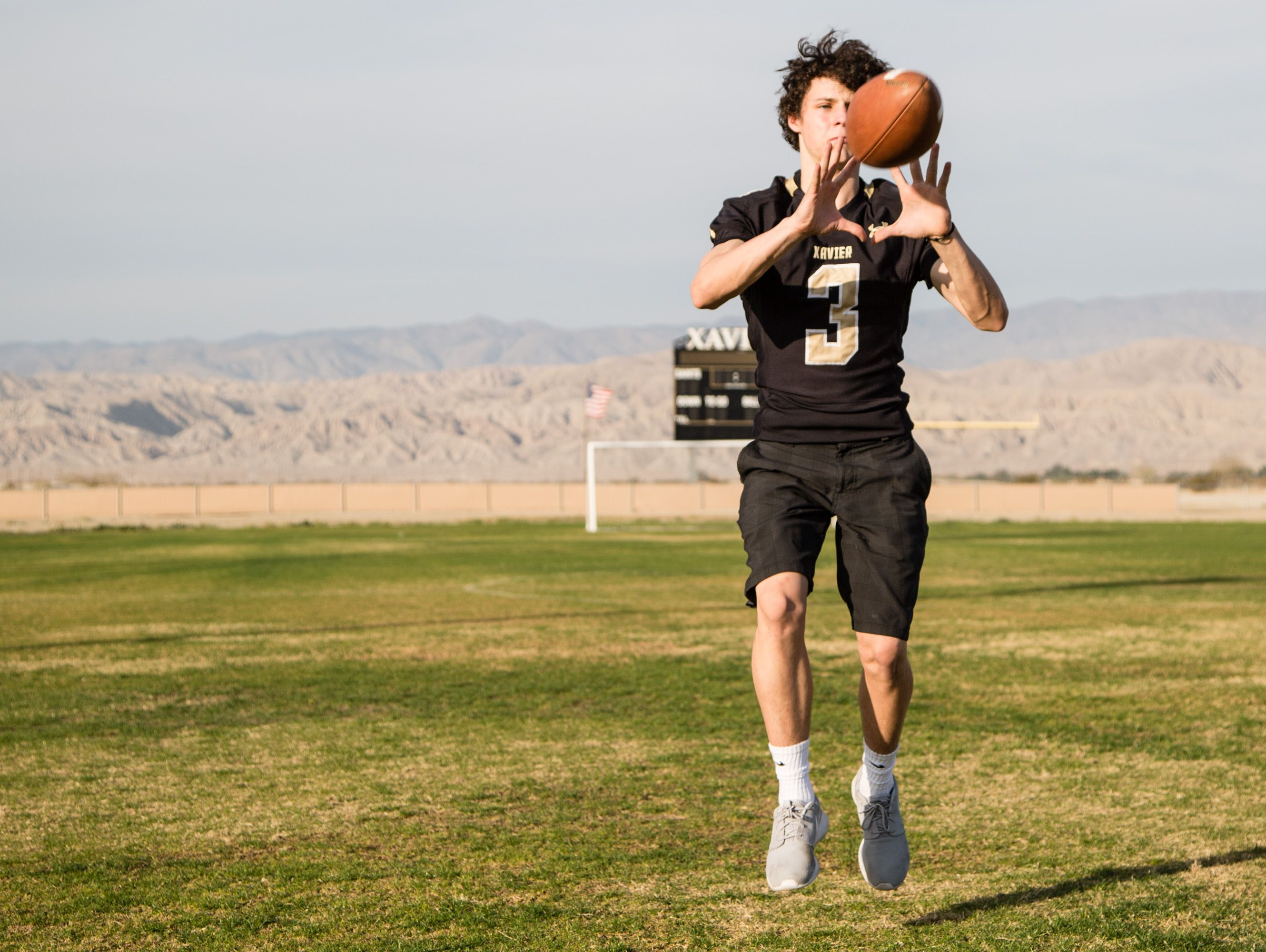 Chandler Barbato of Xavier Prep, photographed on Monday, Dec. 12, 2016, is one of the picks for the All-Desert Sun football team.