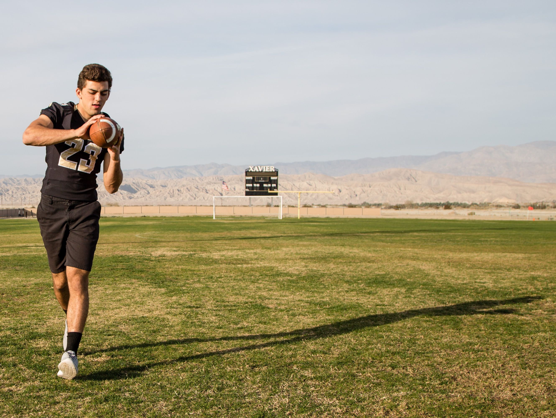 Mason Sarna of Xavier Prep, photographed on Monday, Dec. 12, 2016, is one of the picks for the All-Desert Sun football team.