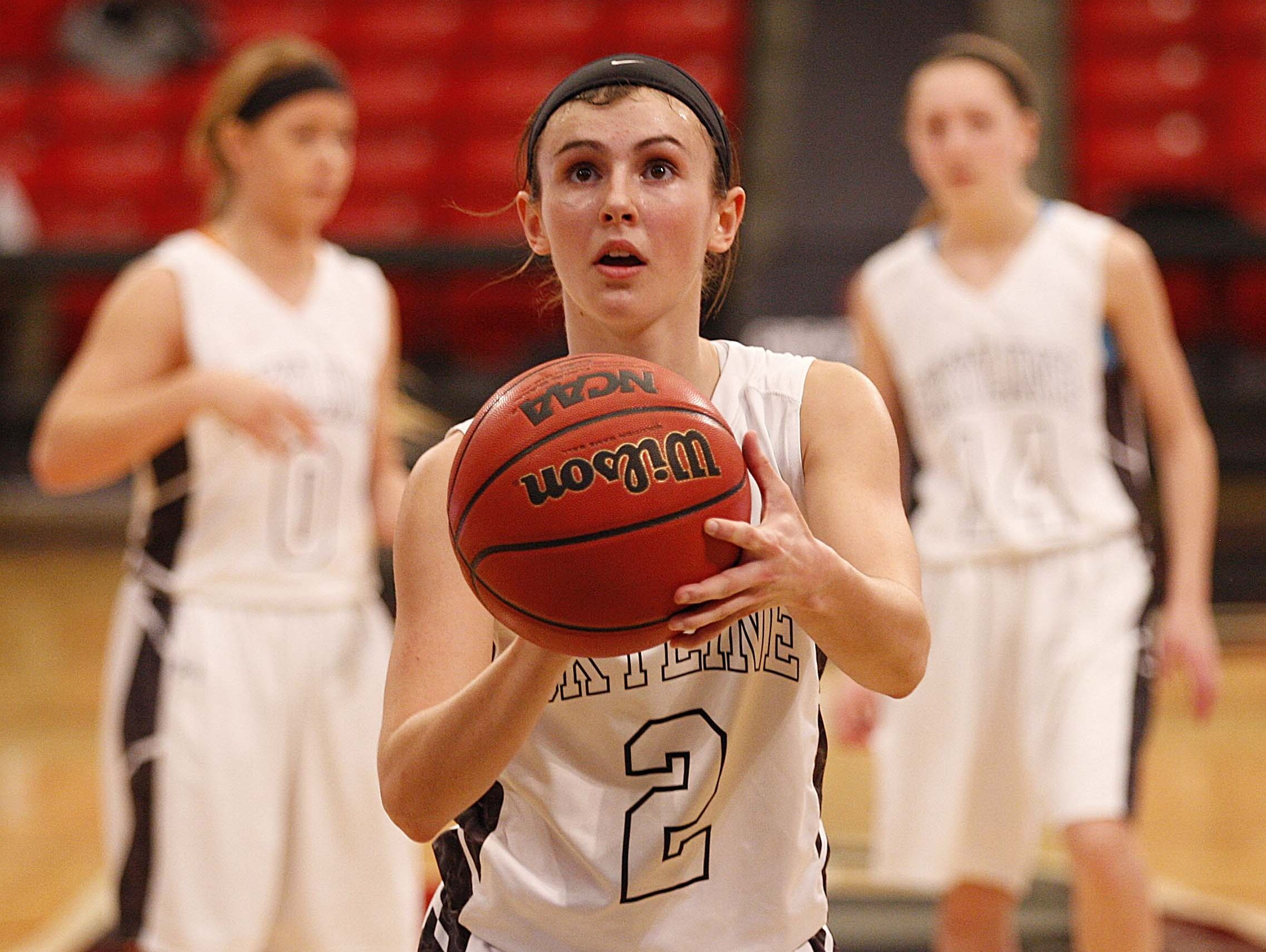 Kaylee DaMitz (center) and the Skyline Tigers hold the No. 3 seed in the White Division of the 2016 Pink and White Lady Classic, set to begin Dec. 27 at Drury University.
